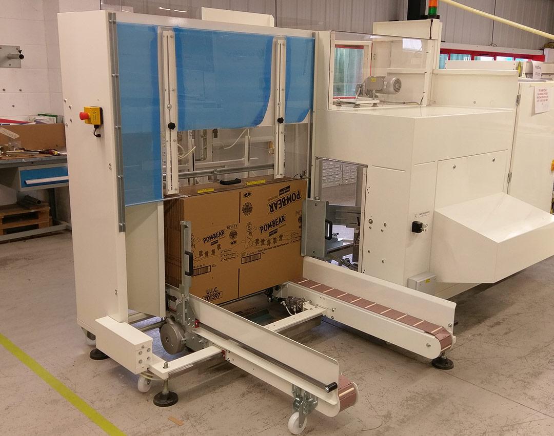 Case erectors for corrugated boxes
